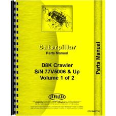 Caterpillar D8K Crawler Parts Manual (SN# 77V5006 and Up)