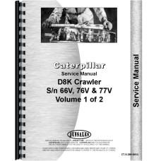 Caterpillar D8K Crawler Service Manual (SN# 66V, 76V1 and Up, 77V1 and up)
