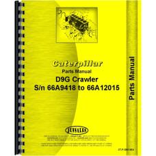 Caterpillar D9G Crawler Parts Manual (SN# 66A9418-66A12015)