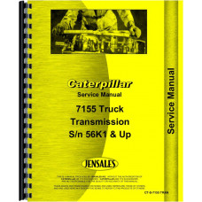 Caterpillar 7155 Truck Transmission Service Manual (SN# 56K1 and Up)