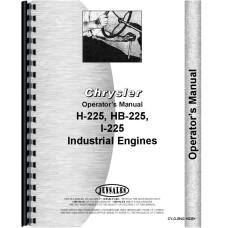 Chrysler H-225 Engine Operators Manual