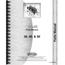 Clark 30, 40, 50 Forklift Parts Manual