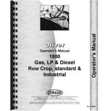 Cockshutt 1800A Tractor Operators Manual