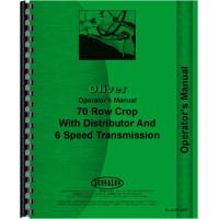 Cockshutt 70 Tractor Operators Manual (Row Crop w/ 6 Speed)