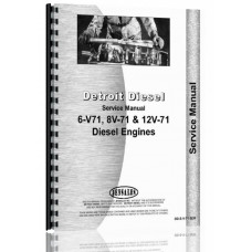 Euclid 34 LDT Truck Bottom Dump Detroit Diesel Engine Service Manual
