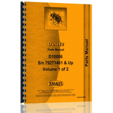 Deutz (Allis) D10006 Tractor Parts Manual (SN# 7927, 1461 & Up)