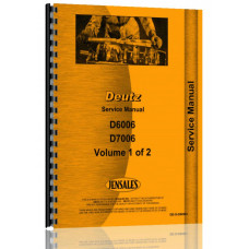 Deutz (Allis) D7006 Tractor Service Manual (Chassis)