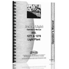Delco 850, 1271, 1278 Light Plant Operators Manual