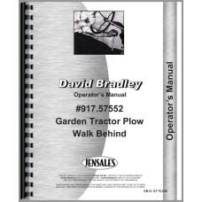 David Bradley 917.57552 Plow Operators Manual