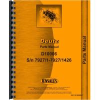 Deutz (Allis) D10006 Tractor Parts Manual (SN# 7927/1 to 7927/1426)
