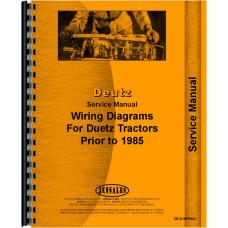 Deutz (Allis) D5206 Tractor Wiring Diagram Service Manual