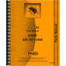 Deutz (Allis) D4006 Tractor Parts Manual (Sn 7871/3488 & Up)
