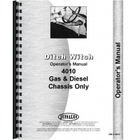 Ditch Witch 4010 Trencher Operators Manual (Chassis)