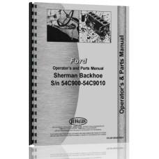 Ford 660 Sherman 54C900 Backhoe Attachment Operators Manual (SN# 54C900-9010)