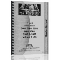 Ford 5550 Industrial Tractor Service Manual (1965-1975, SN# 40340070)