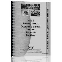 Ford 9N Sherman 54A Backhoe Attachment Operators Manual