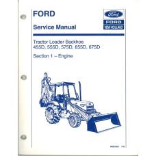 Ford 655D Tractor Loader Backhoe Service Manual (3 & 4 CYL DIESEL ENGINE)