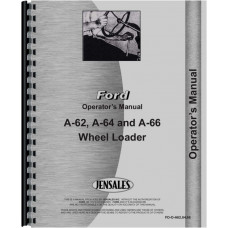 Ford A62 Wheel Loader Operator's Manual