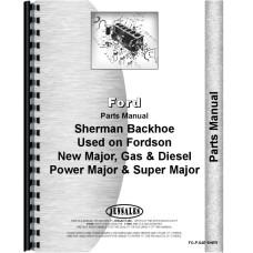 Ford Power Major Sherman 54E Backhoe Attachment Parts Manual (1958-1961) (Attachment)