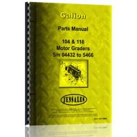 Galion 104 Grader Parts Manual (SN# 04432-5466) (Chassis)