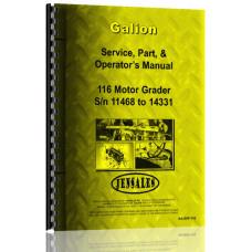 Galion 116 Grader Service Manual