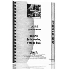 Gehl BU610 Forage Box Operators Manual