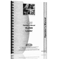 Gehl HL2500 Skid Steer Loader Operators Manual
