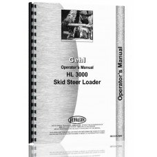 Gehl HL3000 Skid Steer Loader Operators Manual