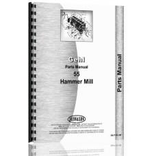 Gehl 55 Hammer Mill Parts Manual