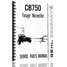 Gehl 750 Forage Harvester Parts Manual