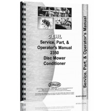 Gehl 2350 Disc Mower Conditioner Service Manual