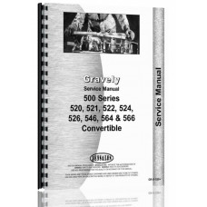 Gravely 520, 521, 522, 524, 526, 546, 564, 566 Convertible Walk Behind Mower Service Manual