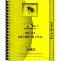 Galion 104 Grader Parts Manual (SN# 02601-04432)