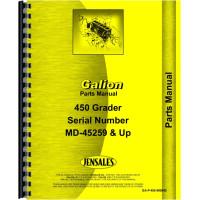 Galion 450 Grader Parts Manual (SN# MD45259 and Up)