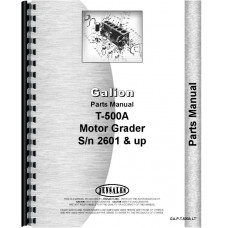 Galion T-500A Grader Parts Manual (SN# 2601 and Up) (Chassis)