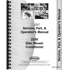 Gehl 2330 Disc Mower Conditioner Service Manual