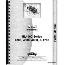 Gehl HL4300 Skid Steer Loader Parts Manual