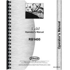 Gehl RB1400 Baler Operators Manual