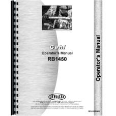 Gehl RB1450 Round Baler Operators Manual