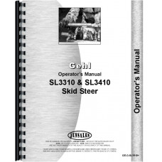 GehlOperators Manual (SL3310 & SL3410 Skid Steer Loader)