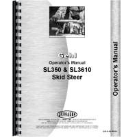 Gehl SL3610 Skid Steer Loader Operators Manual