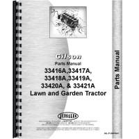Gilson 33417A Lawn & Garden Tractor Parts Manual