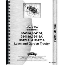 Gilson 33418A Lawn & Garden Tractor Parts Manual