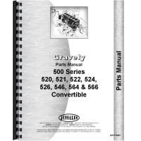 Gravely 520, 521, 522, 524, 526, 546, 564, 566 Convertible Walk Behind Mower Parts Manual
