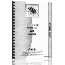 Hancock 222 Scraper Parts Manual