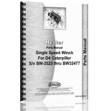 Hyster Rear Towing Winch Attachment Parts Manual (SN# 2T1 & Up, BW3525-BW32477)