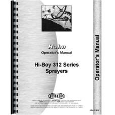 Hahn 312 Tractor Operators Manual