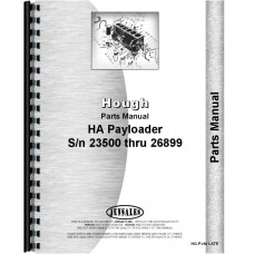 Hough HA Pay Loader Parts Manual (SN# 23500 and Up) (Chassis)