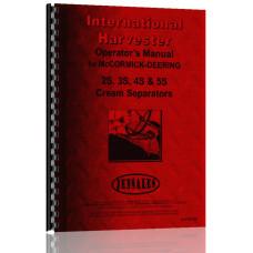 International Harvester 5-S Cream Separator Operators Manual