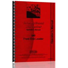 International Harvester 540 Front End Loader Operators Manual